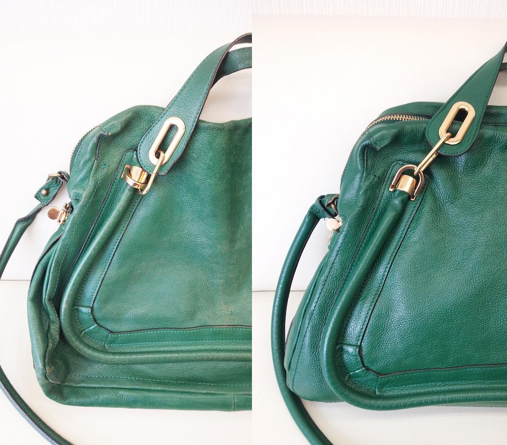 クロエ パラティのハンドバッグの色補修をご紹介
