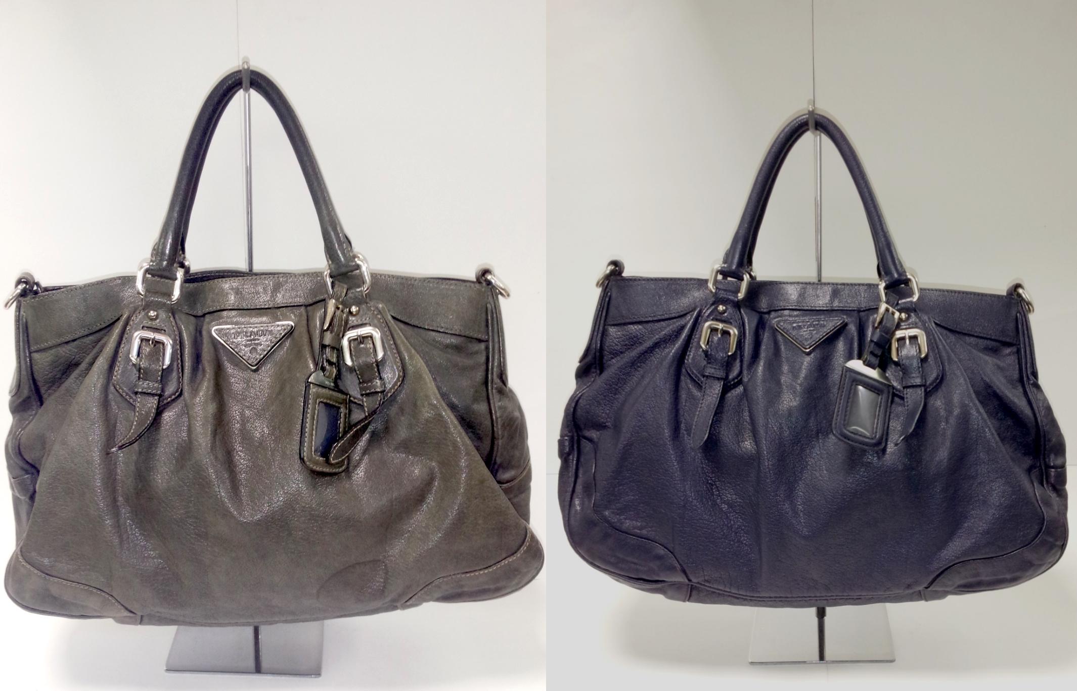 プラダ(Prada) 革ハンドバッグの色補修をご紹介