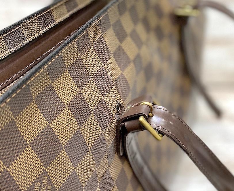 ルイヴィトン ダミエトートバッグのカシメ金具交換をご紹介