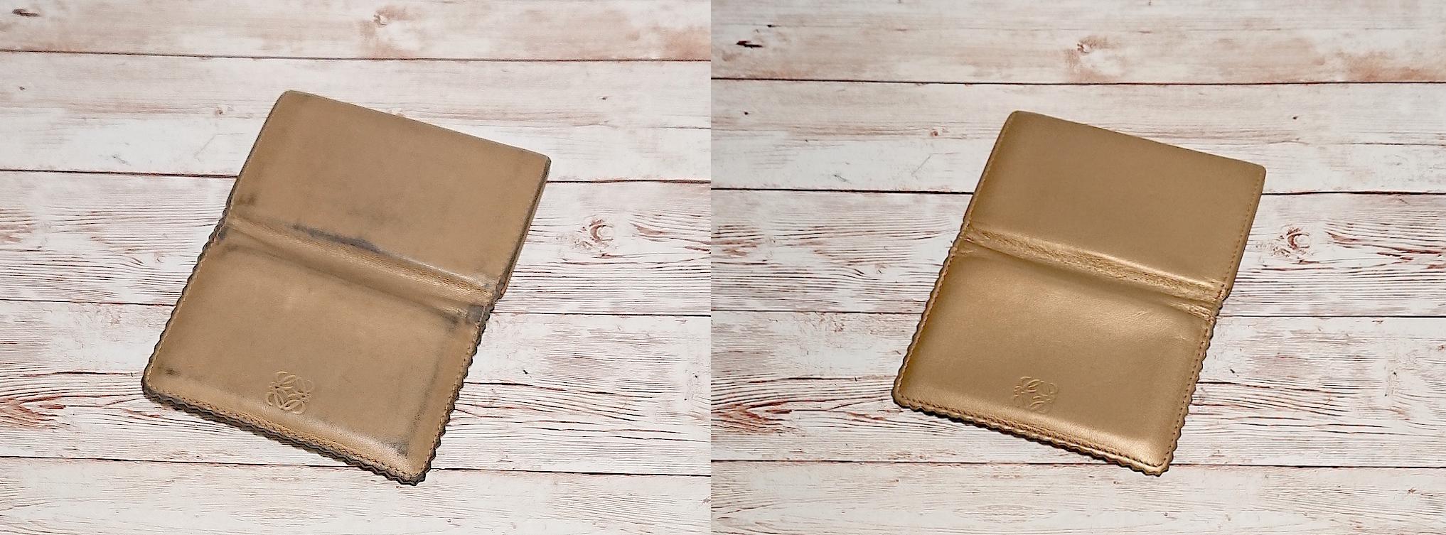 ロエベ(Loewe)のカード入れの色補修をご紹介